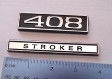 408 STROKER  black plastic with Chrome   emblem emblems badge new