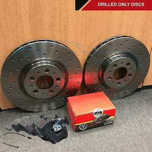 FOR BMW X5 E53 3.0D 4.4 FRONT PERFORMANCE DRILLED BRAKE DISCS PADS WIRE 332mm