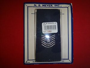 Pair Of US Air Force SERGEANT E-7 Slip-On Epaulets (Male) In NS MEYER Box