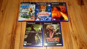 5 X PS2 sony playstation 2 TUROK SSX TOUR NARNIA VAN HELSING REIGN FIRE