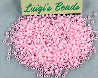 11//0 Round Toho Japanese Glass Seed Beads #145F-Ceylon Frosted Innocent Pink 10g