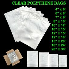 More details for clear polythene food bags plastic poly food grade  bags strong all sizes cheap