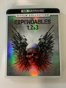 The Expendables 1 2 3 4K Ultra HD Collection with Slipcover Free Shipping