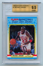 1988-89 FLEER STICKER MICHAEL JORDAN BGS 9.5 POP 4 NO MORE GEM IN LAST 13 YEARS