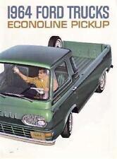 1964 Ford Econoline Sales Folder Literature Brochure Advertisement Options Specs