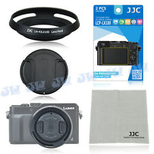 JJC Metal Lens Hood+LCD Screen Protector+Lens Cap for Panasonic LUMIX DMC-LX100