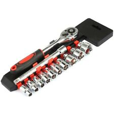 12 in 1 Tube Single Row Adjustable spanner Ratchet Wrench Set 3/8 Repairing Tool