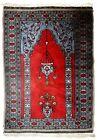Handmade vintage Uzbek Bukhara prayer rug 2.5' x 3.7' (78cmx115cm) 1970s - 1C626