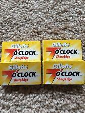 20 Gillette 7 O Horloge Sharpedge Double Bord Sécurité Rasoir Lames Jaune Russie