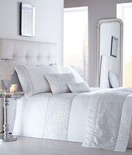 Shimmer White Luxury Sequin Diamante Detail King Size Duvet Cover Set