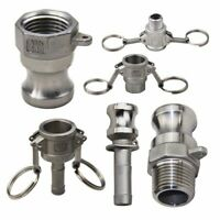 """304 Stainless Steel DN15 Homebrew Camlock Fitting Hose Adapter 1/2"""" MPT FPT Barb"""