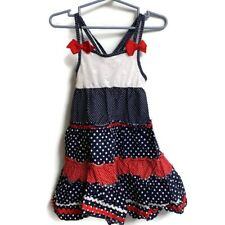 Youngland~girls~Red/White /Blue/Stars/Stripes/Dress! (4T) Patriotic