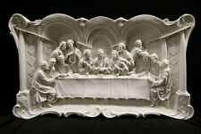 """The Last Supper Jesus Wall Plate Plaque Catholic Statue Made in Italy 29"""" Wide"""