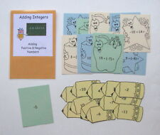 Teacher Made Math Center Educational Learning Resource Game Adding Integers
