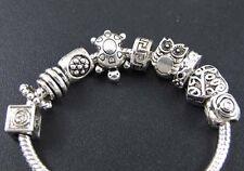 100pc Wholesale Turtle Mix Tibet Silver Spacer Beads Fit European Charm Bracelet