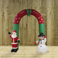 Gigantic Inflatable Santa and Snowman Christmas Arch (240cm) Indoor/Outdoor