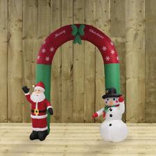 Giganteschi Gonfiabile Babbo Natale e pupazzo di neve Natale Arch (240cm) Indoor/Outdoor