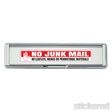 NO JUNK MAIL LETTER BOX DOOR WINDOW VINYL STICKER / DECAL 190mm x 30mm