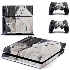 White Wolves PS4  Skin for PS4  Console & 2 Controllers