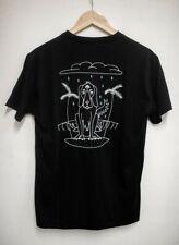 WECare black cotton t-shirt cloud third eye cartoon dog unisex men's women's