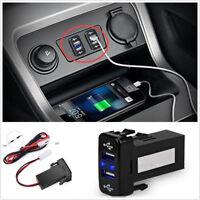 2.1A Car Dual USB 2 Port DC 12V-24V Fast Charger Smart Phone iPad Digital Camera