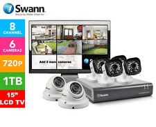 "Swann DVR8-1580 8-Ch 1TB HDD 6 x 720P HD Cameras 15"" LCD TV T835 & T836 RRP $999"
