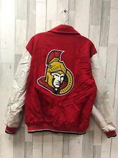 Vintage G-III Carl Banks Ottawa Senators NHL Varisty Leather Wool Jacket Size M
