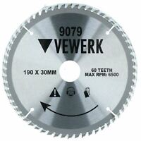 190mm x 30mm TCT Tungsten Carbide Tipped Circular Saw Blades 60 Teeth