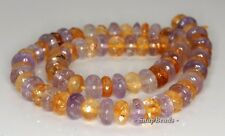 10X5MM  MIX QUARTZ GEMSTONE RONDELLE LOOSE BEADS 7.5""