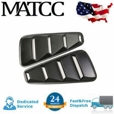 For 05-2014 Ford Mustang 1/4 Quarter ABS  Window Louvers Scoop Cover Vent Black