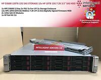 "HP D3600 120TB 12G SAS STORAGE 12x HP 10TB 12G 7.2K 3.5"" SAS HDD"