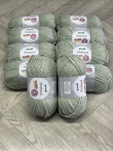 Grundl Shetland Chunky Knitting Crochet Wool/Yarn 10 x 100g Balls