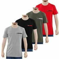 Loyality & Faith Men T Shirt Crew Neck Zip Pocket Short Sleeve Summer Shirt Tee