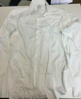 Calvin Klein Men's Dress Shirt Slim Fit Perfomance Herringbone Size 18 34/35 NEW