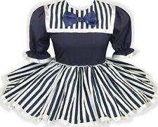 READY 2 WEAR | Navy White STRIPES Bow Adult Baby Sissy Little Girl Dress LEANNE
