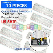 10X Mb-102 830 Point Prototype Pcb Breadboard
