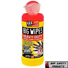 BIG WIPES HEAVY DUTY 4X4 DUAL SIDE CLEANING WIPES 60020046 (80 WIPES/TUB)