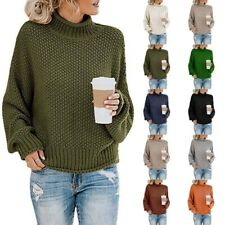 Sweater Knitted Jumper Pullover Long Sleeve Ladies Womens Tops Winter Plus Size