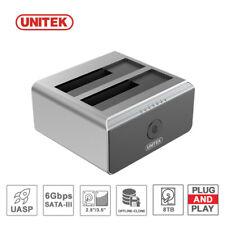 UNITEK Docking Station USB 3.0 to SATA Dual Bay Offline Clone 8tb HDD Duplicator