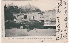 NP1704 - BACOLI POZZUOLI NAPOLI - ROVINE ANTICO TEATRO VIAGGIATA 1906
