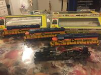 Set Of 3 Vintage ATLAS HO Chessie Locomotive B & O 7412 2 Power 1 Dummy With Box