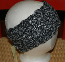Knit Head Wrap OSFA NWT$18 Winter Hair Accessory Black Gray STOCKING STUFFER NEW