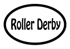 "Roller Derby Oval car window bumper sticker decal 5"" x 3"""