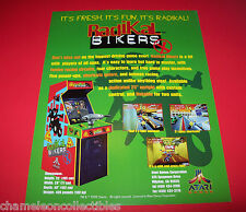 RADIKAL BIKERS By ATARI 1998 ORIGINAL NOS VIDEO ARCADE GAME SALES FLYER BROCHURE