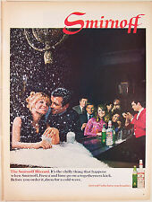 "Print Ad 1968, Smirnoff Vodka, Blizzard Drink with Fresca & Lime, 10""x13"", VG+"