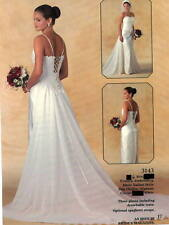 3143 WHITE 3pc Wedding Gown BRIDAL ORIGINALS sz 6 $ Sample Sale Save $ ORIG$800