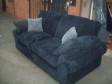 "STRAND 3 SEATER SOFA & SOFA BED FORMAL BACK ""BLACK,""MANY COLOURS AVAILABLE"""