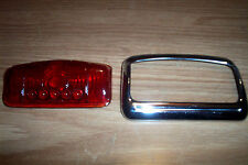 NORS PLYMOUTH,DODGE 1942 (COUPE) GLASS TAILIGHT LENS & BEZEL ASSEMBLY #PHE