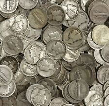 Circulated 90/% Silver Coin Lot Choose How Many 10 Mercury Dimes 1916-1945