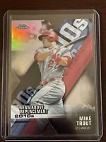 Mike Trout 2020 Topps Chrome Silver Refractor Die Cut WAR Angels GOAT
